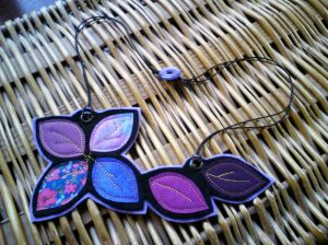 Sew Small necklace - jewel colours